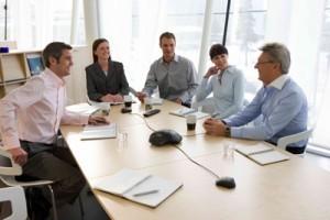 vergadering tussen personen